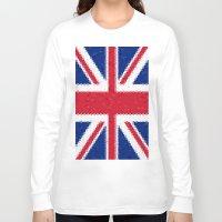 british flag Long Sleeve T-shirts featuring British flag mosaic by Zora Zora