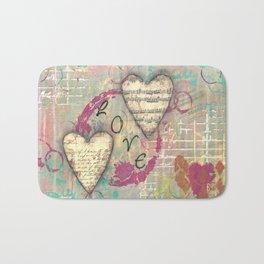 Two Hearts in Love Bath Mat