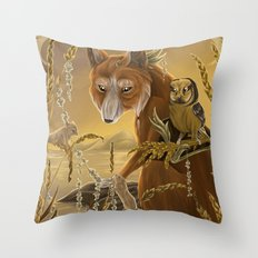solar owls ceres  Throw Pillow