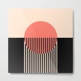 Abstraction_NEW_SUN_SUNSET_LINE_POP_ART_Minimalism_001AA Metal Print