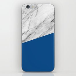 Marble and Lapis Blue Color iPhone Skin