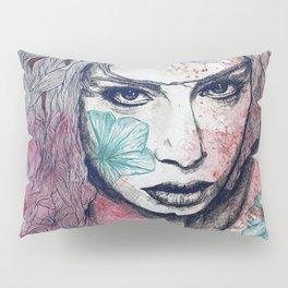 No Hope In Sight: Purple (tattoo girl portrait) Pillow Sham