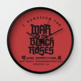 War of the Black Roses Wall Clock