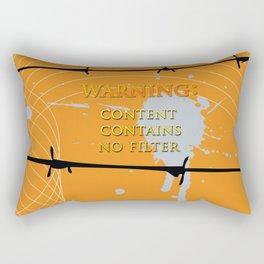 Warning: No Filter Rectangular Pillow