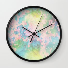 Pastel peeled off paint Wall Clock