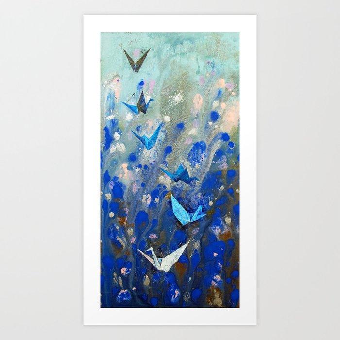 Origami Cranes Kunstdrucke