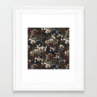 military Framed Art Prints featuring Military pattern by Julia Badeeva