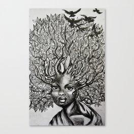 afro hair Canvas Print