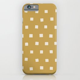 painted squares-buff iPhone Case
