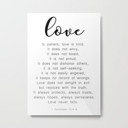 Love Never Fails #minimalism Metal Print