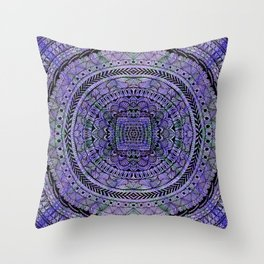 Zentangle Mandala Throw Pillow