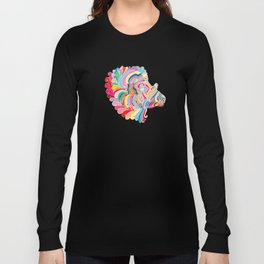 Goat in Rainbow Long Sleeve T-shirt
