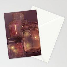 Flickering Stars Stationery Cards