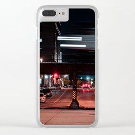 Milwaukee Train Long Exposure Clear iPhone Case