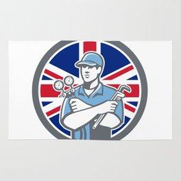 British Refrigeration Mechanic Icon Rug