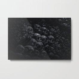 Skulls Dome Metal Print