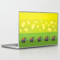 cheese Laptop & iPad Skins featuring cheese lover by mangulica illustrations