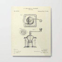 Coffee Mill-1885 Metal Print