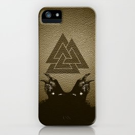 Vikings Odin's Ravens Huginn and Muninn iPhone Case