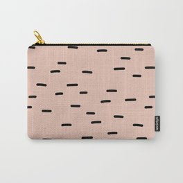Peach dash abstract stripes pattern Carry-All Pouch