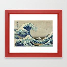 The Classic Japanese Great Wave off Kanagawa Print by Hokusai Framed Art Print