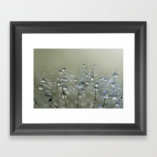 Gold Sparkles Framed Art Print