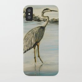 Great Blue Heron in Oil iPhone Case