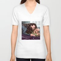 thorin V-neck T-shirts featuring Dwalin / Thorin by Rshido