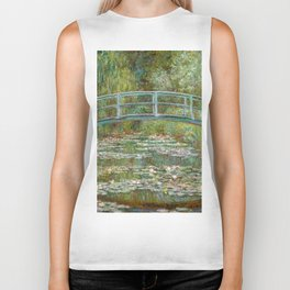 "Claude Monet ""Bridge over a Pond of Water Lilies"" Biker Tank"