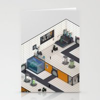 monster inc Stationery Cards featuring Monster Labs Inc. by Allen Amin