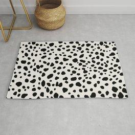 Polka Dots Dalmatian Spots Black And White Rug