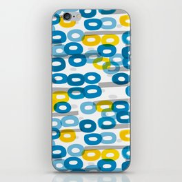 Collapsed ring pattern blue and yellow iPhone Skin