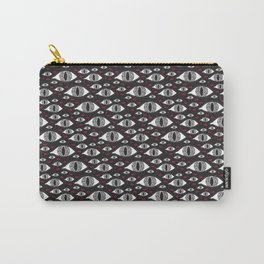 Scary eyes with bloody drops pattern Carry-All Pouch