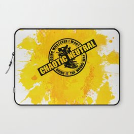 Chaotic Neutral RPG Game Alignment Laptop Sleeve