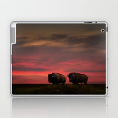 Two American Buffalo Bison at Sunset Laptop & iPad Skin