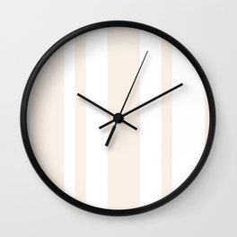 Mixed Vertical Stripes - White and Linen Wall Clock
