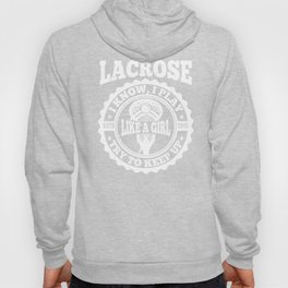 Lacrosse Girl product gift, Lax design for women Hoody