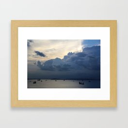 Clouds in Singapore Framed Art Print