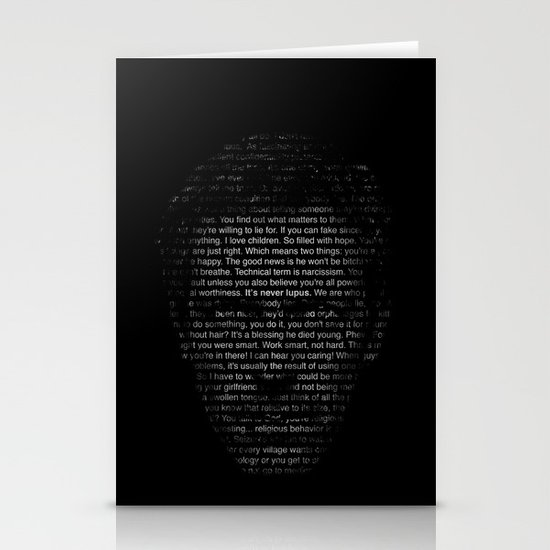House MD Quotes Print (It's never lupus) Stationery Cards