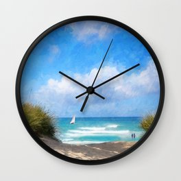 Beach Idylle 2018 Wall Clock