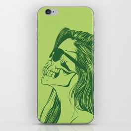 Skull Girl 2 iPhone Skin