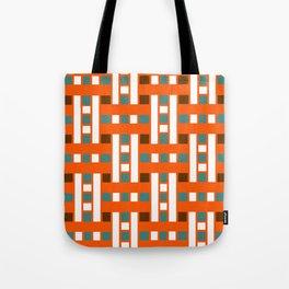 Cross Stitch Quilt Latter Design Chutes Weave Tote Bag