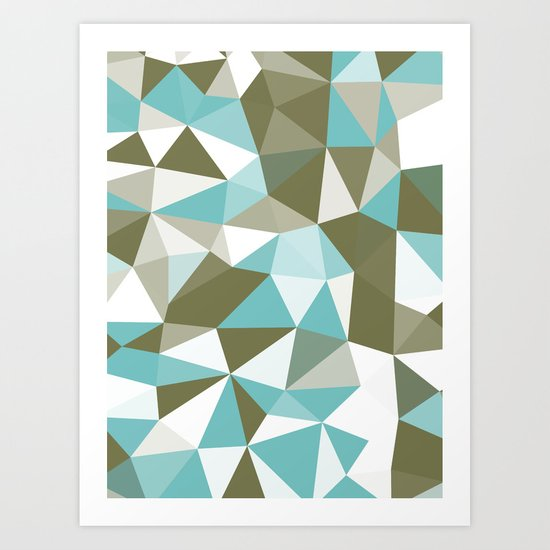 Seaweed Tris Art Print