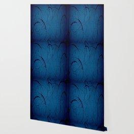 Navy Blue - Jackson Pollock Style - Modern Art Wallpaper
