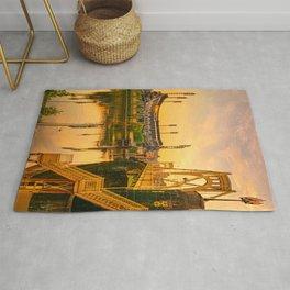 Pittsburgh Ballpark Riverview Sunrise Print Rug