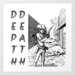 ea362095fdb Depth Death Shootout Art Print