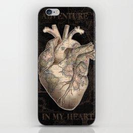 adventure heart-world map iPhone Skin