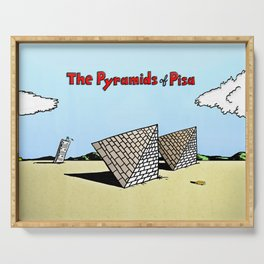 The Pyramids of Pisa Serving Tray