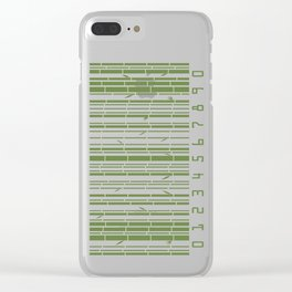 Bamboo Barcode Clear iPhone Case