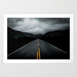Open Road Landscape Art Print